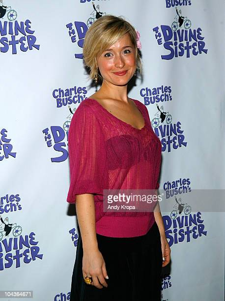 Allison Mack attends The Divine Sister opening night curtain call at the Soho Playhouse on September 22 2010 in New York City