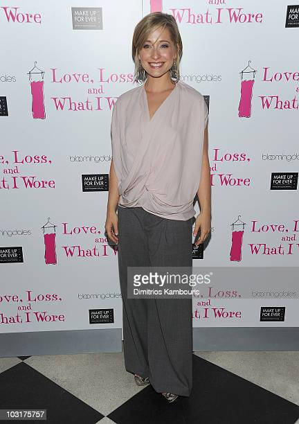 Allison Mack attends the Love Loss And What I Wore new cast member celebration at 44 1/2 on July 29 2010 in New York City