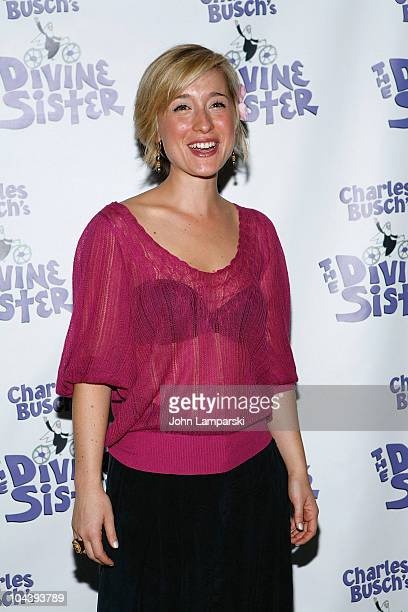 Allison Mack attends the opening night of 'The Divine Sister' at the Soho Playhouse on September 22 2010 in New York City