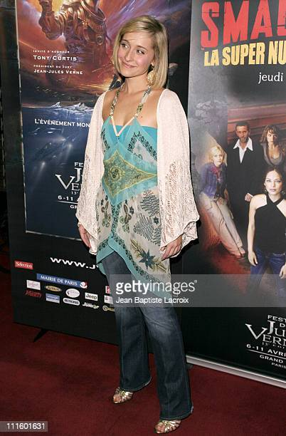 Allison Mack during 13th Jules Verne Film Festival Smallville Season IV Premiere at Rex Theatre in Paris France