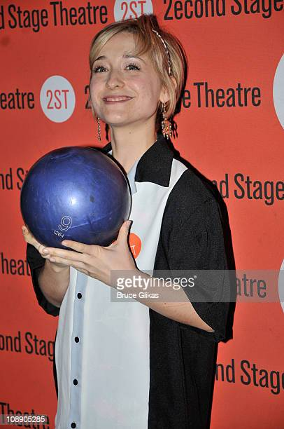 Allison Mack poses at The Second Stage Theatre's All Star Bowling Classic fundraier at Lucky Strike Lanes Lounge on February 7 2011 in New York City