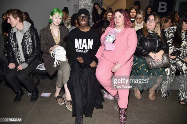 Allison Mackenzie and Miss J attend the Global Fashion Collective II front row during New York Fashion Week The Shows at Pier 59 Studios on February...