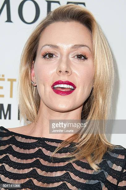 Allison McAtee attends Moet and Chandon celebrating 25 Years at The Golden Globes on January 8 2016 in West Hollywood California