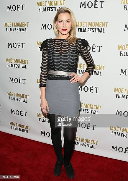 Allison McAtee attends the Moet and Chandon celebration '25 Years at The Golden Globes' on January 8 2016 in West Hollywood California