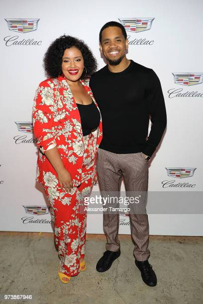 Allison McGevna and actor Tristan 'Mack' Wilds attend the Cadillac Welcome Luncheon At ABFF Black Hollywood Now at The Temple House on June 13 2018...