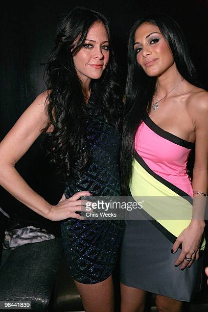 Allison Melnick and singer Nicole Scherzinger attend SVEDKA Vodka's 'Adult Playground 2033' at Playhouse Hollywood on February 4 2010 in Los Angeles...