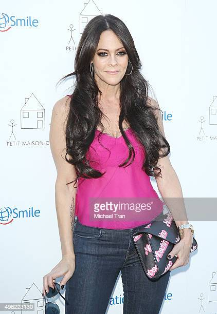 Allison Melnick arrives at the Petit Maison Chic and Operation Smile Kids charity fashion show held on November 21 2015 in Beverly Hills California