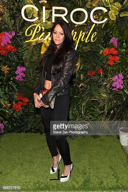 Allison Melnick attends CIROC Offical Toast Of MercedesBenz Fashion Week With Designer Erin Fetherstonat The Courtyard at Lincoln Center on September...
