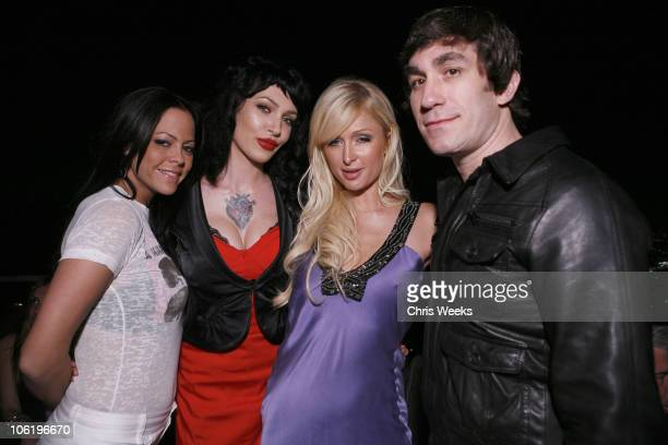 Allison Melnick Micheline Paris Hilton and Brent Bolthouse