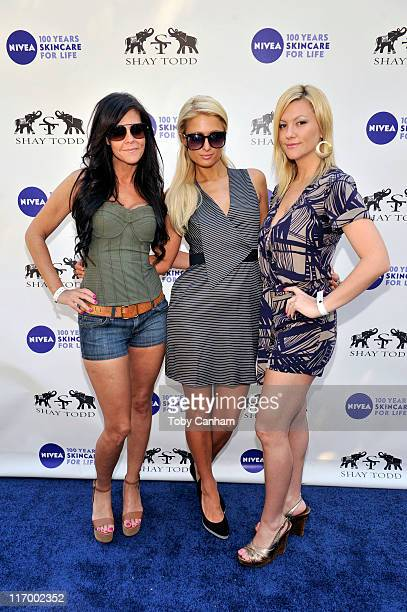 Allison Melnick Paris Hilton and Jennifer Rovero arrives for the Goodbye cellulite hello bikini poolside party held at The NIVEA and Shay Todd Summer...