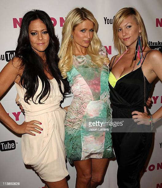 Allison Melnick Paris Hilton and Jennifer Rovero attend the Nylon Magazine Young Hollywood May issue launch party at Bardot on May 4 2011 in Los...