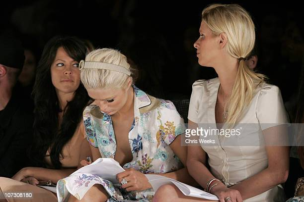 Allison Melnick Paris Hilton and Nicky Hilton front row at Louis Verdad Fall 2006