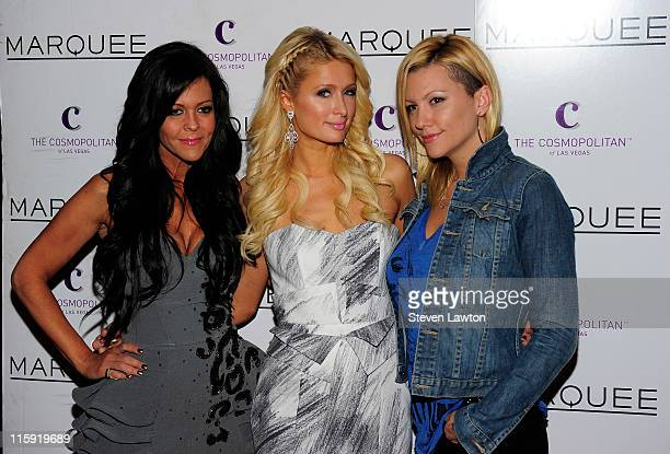 Allison Melnick Television personality/model Paris Hilton and model Jennifer Rovero arrive to celebrate Allison's birthday at the Marquee Nightclub...