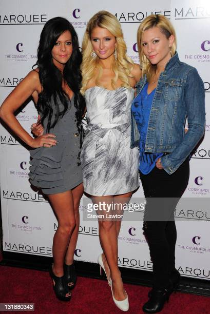 LR Allison Melnick Television personality/model Paris Hilton and model Jennifer Rovero arrive to celebrate Allison's birthday at the Marquee...