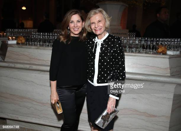 Allison Menkes and Pauline Menkes attend National YoungArts Foundation New York Gala presented in collaboration with Max Mara at The Metropolitan...
