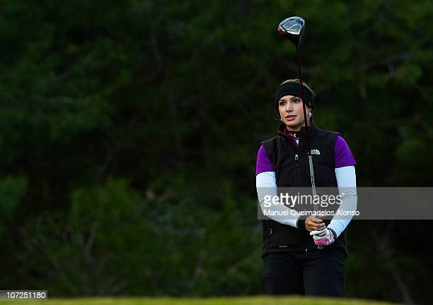 Allison Micheletti in action during the Ladies European Tour PreQualifying School Final Round at La Manga Club on December 2 2010 in La Manga Spain