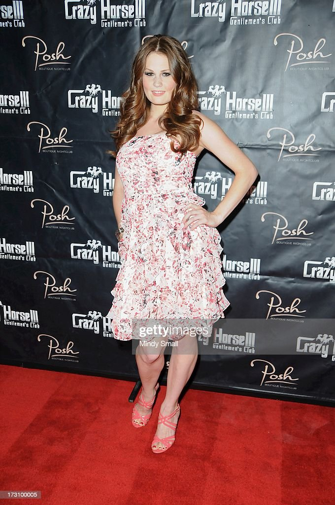 Allison Moore arrives at the Crazy Horse III Gentleman's Club on July 6, 2013 in Las Vegas, Nevada.