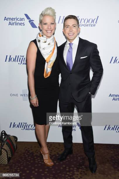 Allison Morris and Baruch Shemtov attend The Hollywood Reporter 35 Most Powerful People In Media 2017 at The Pool on April 13 2017 in New York City