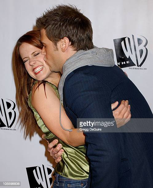 Allison Munn and Nick Zano during The WB Television Network's 2005 All Star Party Arrivals at Warner Bros Studio in Burbank California United States