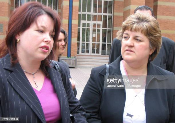 Allison Munn and Sarah Moore speaking outside Stafford Crown Court Their husbands were killed following a high speed pursuit on the A42 near...