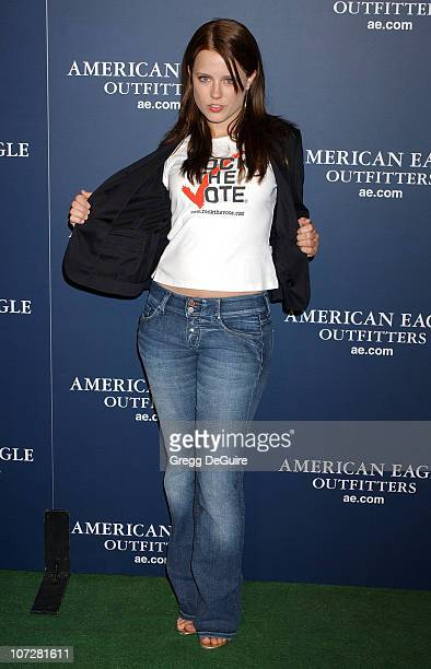 Allison Munn during American Eagle Outfitters Rocks Los Angeles with a Back To School Tailgate Party Arrivals at Hollywood Lot in Hollywood...