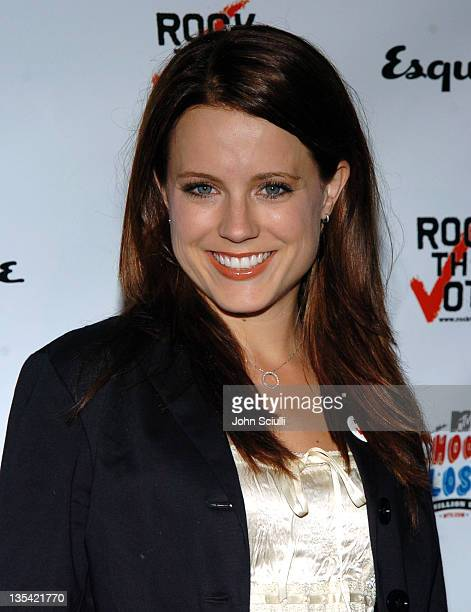 Allison Munn during Esquire House Hosts Young Hollywood 'Rock The Vote' Party Arrivals at The Esquire House Los Angeles in Beverly Hills California...