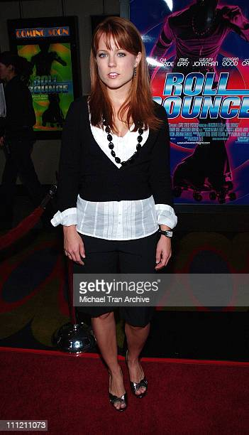 Allison Munn during 'Roll Bounce' Los Angeles Premiere at The Bridge at Howard Hughes Center in Los Angeles CA United States