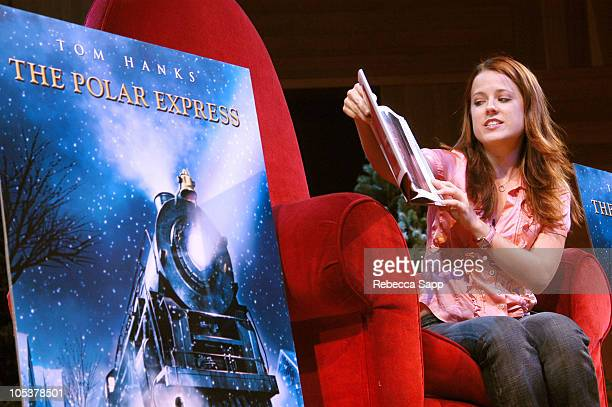 Allison Munn during 'The Polar Express' Reading by Allison Munn at Los Angeles Central Library in Los Angeles California United States