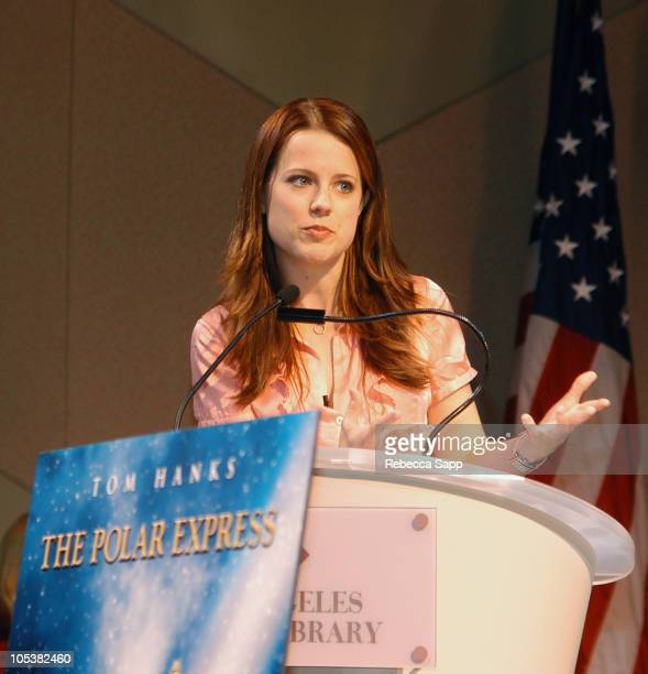 Allison Munn during The Polar Express Reading by Allison Munn at Los Angeles Central Library in Los Angeles California United States