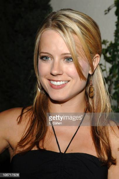 Allison Munn of 'What I Like About You' during 2005 WB Networks All Star Celebration Red Carpet at The Cabana Club in Los Angeles California United...