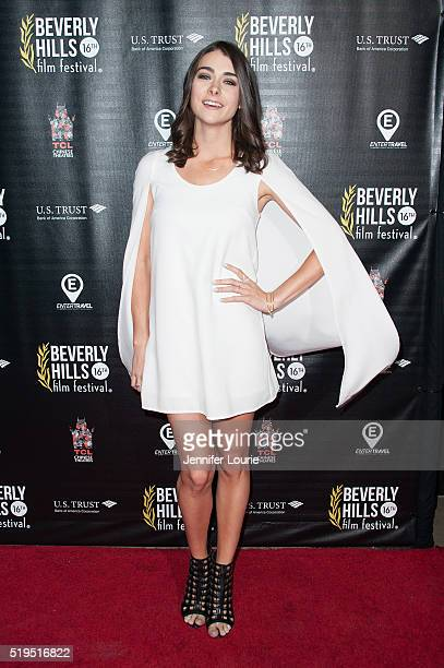 Allison Paige arrives at the opening night premiere of the Beverly Hills Film Festival featuring 'The Lennon Report' and 'Baby Baby Baby' at the TCL...