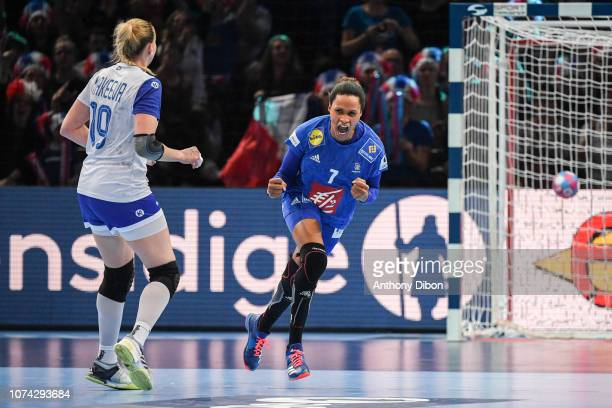 Allison Pineau of France celebrates during the EHF Women's Euro 2018 Final match between Russia and France at AccorHotels Arena on December 16 2018...