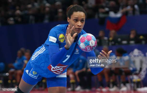 Allison Pineau of France during the EHF Women's Euro 2018 Final match between Russia and France at AccorHotels Arena on December 16 2018 in Paris...