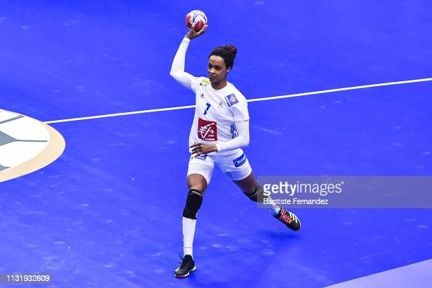 Allison Pineau of France during the Golden League match between France and Romania on March 21 2019 in ClermontFerrand France