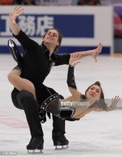 Allison Reed and Otar Japaridze of Georgia skate in the preliminary round ice dance free dance during day three of the 2011 World Figure Skating...