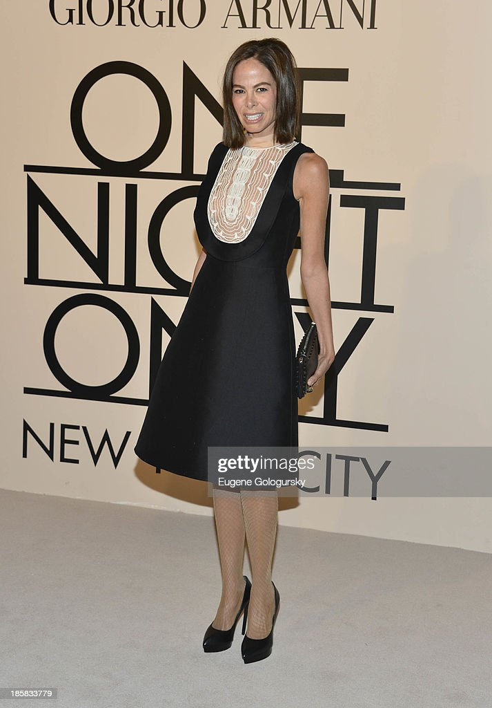 Allison Sarofim attends Armani - One Night Only New York at SuperPier on October 24, 2013 in New York City.