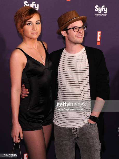 Allison Scagliotti and Neil Grayston arrive at SyFy/E ComicCon Party at Hotel Solamar on July 23 2011 in San Diego California
