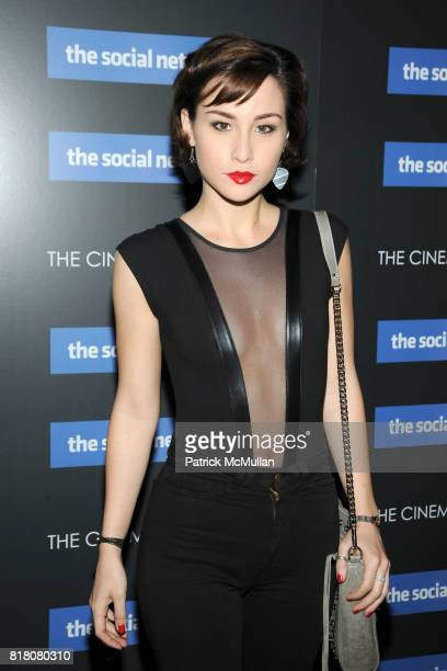 Allison Scagliotti attends COLUMBIA PICTURES THE CINEMA SOCIETY host a screening of THE SOCIAL NETWORK at The SVA Theater on September 29 2010 in New...