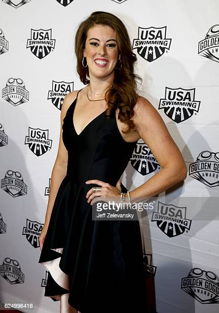 Allison Schmitt arrives to the 2016 Golden Goggles Awards at the Marriott Marquis Hotel on November 21 2016 in New York City