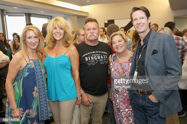 Allison Scripps Carolyn Corlew David Corlew Bebe Evans and Cass Scripps attend APA Nashville's open house at One Nashville Place on June 6 2017 in...