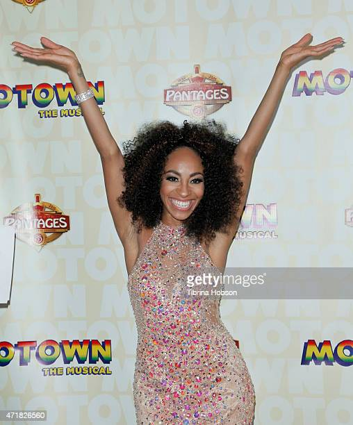 Allison Semmes attends 'Motown The Musical' opening night at the Pantages Theatre on April 30, 2015 in Hollywood, California.