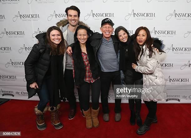 Allison Shafii Amir Shafii Jennifer Jung Kenny Griswold Roberta Kung and Mimi Kim attend the Ainsworth Game Watch Party Presented By Element...