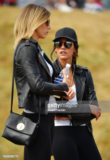 Allison Stokke fiance of Rickie Fowler of the United States during the third round of the 147th Open Championship at Carnoustie Golf Club on July 21...