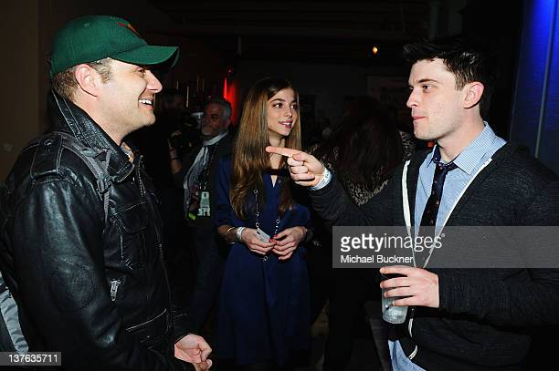 Allison Weissman and Chase Williamson attend The Official 'John Dies At The End' Cast Cocktail Party presented by Bing at The Bing Bar on January 23...