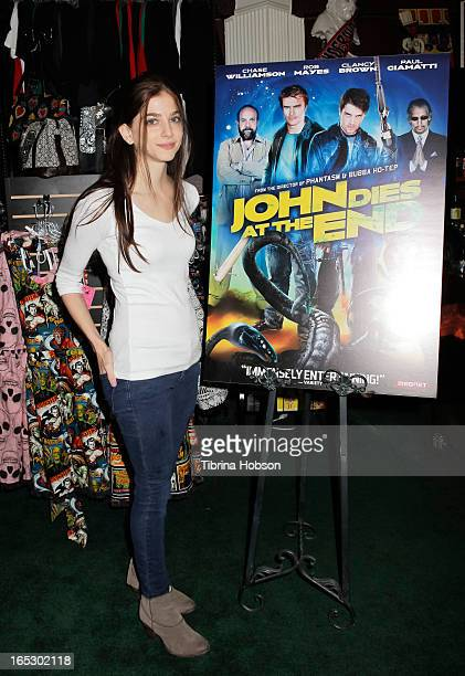 Allison Weissman attends the 'John Dies At The End' DVD/BluRay release party at Dark Delicacies Bookstore on April 2 2013 in Burbank California