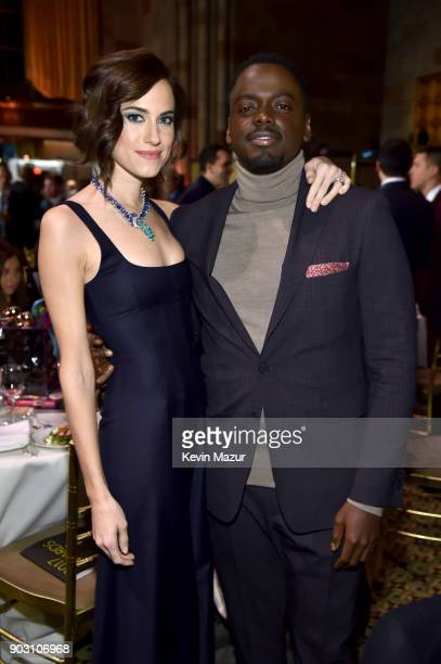 Allison Williams and Daniel Kaluuya attend the The National Board Of Review Annual Awards Gala at Cipriani 42nd Street on January 9 2018 in New York...
