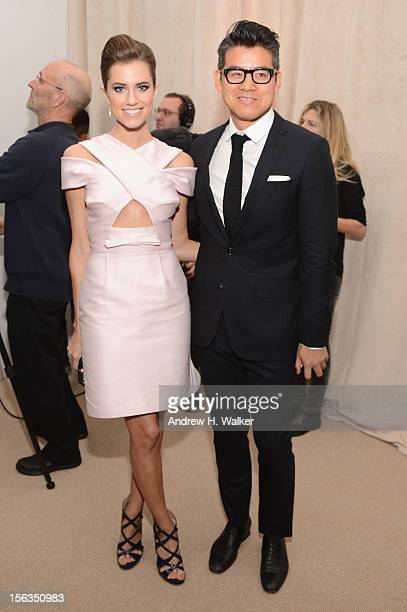 Allison Williams and Designer Peter Som attends The Ninth Annual CFDA/Vogue Fashion Fund Awards at 548 West 22nd Street on November 13 2012 in New...
