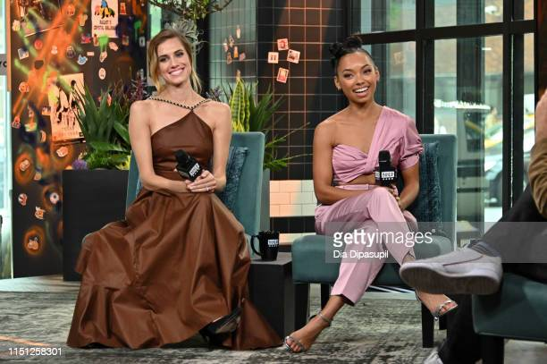 Allison Williams and Logan Browning visit Build to discuss The Perfection at Build Studio on May 23 2019 in New York City