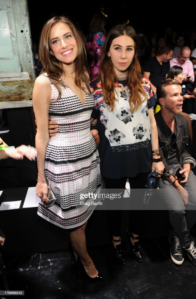 Allison Williams and Zosia Mamet attend the Prabal Gurung fashion show during Mercedes-Benz Fashion Week Spring 2014 at Skylight at Moynihan Station on September 7, 2013 in New York City.