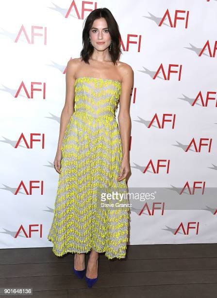Allison Williams arrives at the 18th Annual AFI Awards on January 5 2018 in Los Angeles California